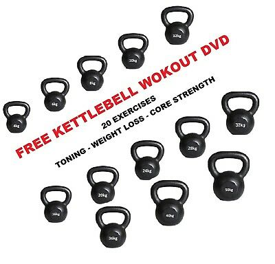 Cast Iron Kettlebells 4kg to 50kg Strength & Fitness Kettlebell Training