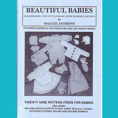 Knitting Machine Pattern Book Only Beautiful Babies, Brother, Knitmaster Silver