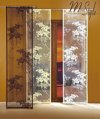 Single Net Sheer Window Panel Blind Curtain Fly Screen Many Sizes Slot top