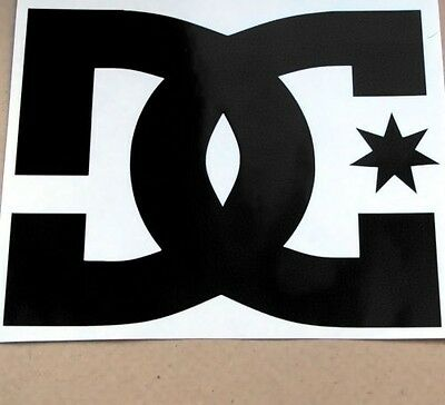 1 LARGE DC SHOES SNOWBOARD CAR WINDOW STICKER DECAL DIE CUT GRAPHIC 20x15.5cm