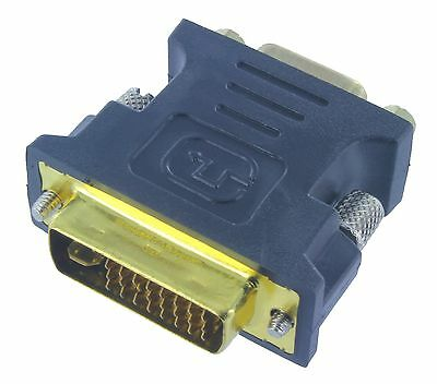 DVI-I(24+5) Dual Link Male to HD15(VGA) Female Adapter Gold Plated(ADVII1-H152G)