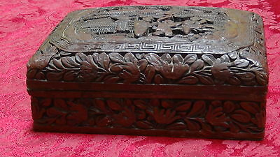 Superb Antique Chinese 18C Qianlong Cinnabar Box
