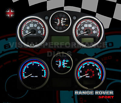 Range Rover Sport diesel interior custom dash speedo lighting upgrade dial kit