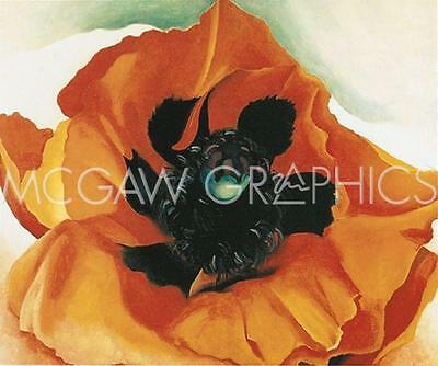 "308 1937 A SUNFLOWER FROM MAGGIE ART PRINT POSTER 11/""X14/"" O/'KEEFFE GEORGIA"