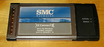 PCMCIA Wireless Wi-Fi 802.11G SMC Card **NEW**  98SE/2000/XP/7