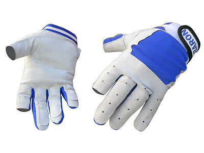 Marine Sailing Yachting Gloves For Boats - Size: M - 2 Fingers Cut - Five Oceans