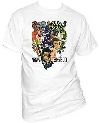 Nick Fury Agent Of S.H.I.E.L.D. Marvel Comics Licensed Tee Adult T-Shirt S-2XL