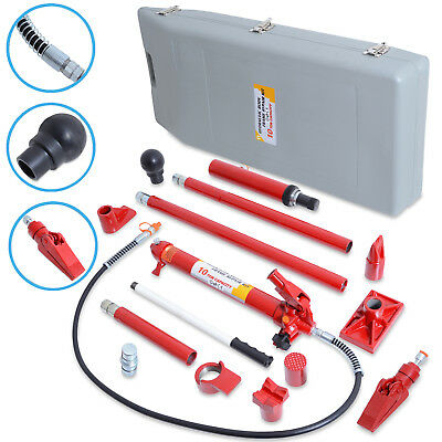 10 Ton Porta Power Portable Hydraulic Car Motor Autobody Dent Body Repair Kit