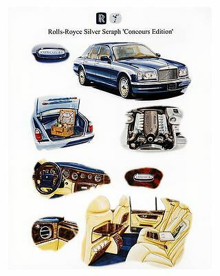 2000 Rolls Royce Silver Seraph Concours Edition Automobile Photo Poster zuc1384-