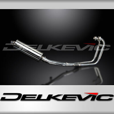 2-1 Stainless Exhaust System Down pipes 350mm Oval Silencer GS500E GS500F 89-09