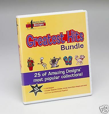 Amazing Designs Greatest Hits Bundle - Machine Embroidery Designs