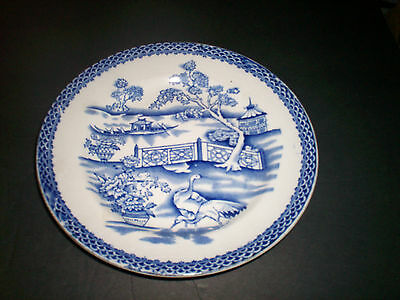 ANTIQUE T.TILL & SONS Clyde 1925 Burslem Blue & White Plate