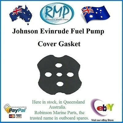A Brand New Fuel Pump Cover Gasket Johnson Evinrude Outboard Motors # 338876
