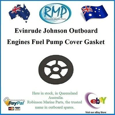 A Band New Fuel Pump Cover Gasket Suits Evinrude Johnson Outboards  # 338879