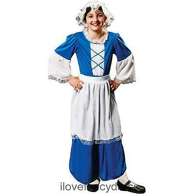 Girls Tudor Costume Scullery Maid Servant Historic School Curriculum Fancy Dress