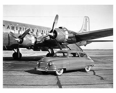 1950 Nash Statesman & American Airlines Airplane Factory Photo uc2405-QU2QYL
