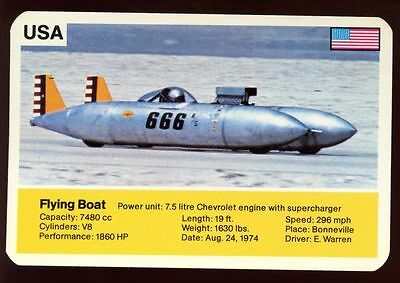 Flying Boat - World Record Holder - Top Trumps Card #AQ