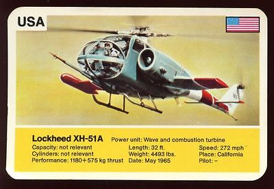 Lockheed XH-51A - World Record Holder - Top Trumps Card #AQ