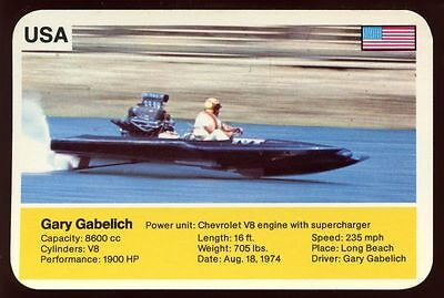 Gary Gabelich - World Record Holder - Top Trumps Card #AQ