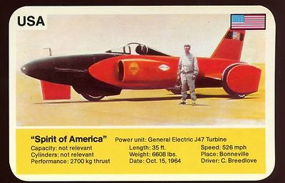 Spirit Of America - World Record Holder - Top Trumps Card #AQ