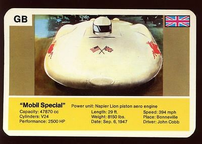 Mobil Special - World Record Holder - Top Trumps Card #AQ