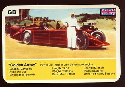 Golden Arrow - World Record Holder - Top Trumps Card #AQ