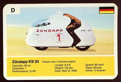 Zundapp KS 50 - World Record Holder - Top Trumps Card #AQ