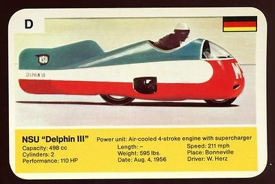 "NSU ""Delphin III"" - World Record Holder - Top Trumps Card #AQ"