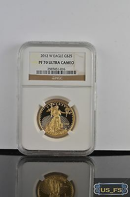 2012 W American Gold Eagle Proof Coin G$25 Pf70 Pf 70 Ultra Cameo Ngc