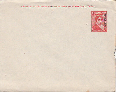 Stamps Argentina UPU 10c red pre-printed cover with MUESTRA, SPECIMEN overprint