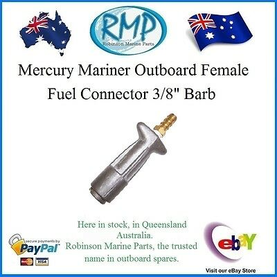 "A Brand New Fuel Connector 3/8"" Barb Suits Mercury Mariner Outboards # VP37253"