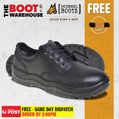 Mongrel Boots 910025. Non Safety, Black Derby, Executive Work Shoes. Brand New!