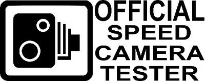 Speed Camera Tester - Funny vinyl Car Decal Sticker window bumper graphic