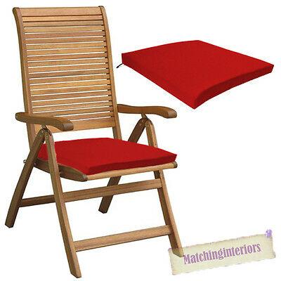Red Outdoor Indoor Home Garden Chair Floor Seat Cushion Pads ONLY Multipacks