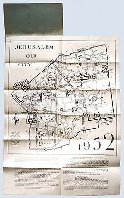 ORIGINAL cir. 1952 JERUSALEM MAP PUBLISHED BY JAHSHAN BROS. EXCELLENT CONDITION