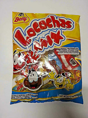 Beny Locochas Mix flavor hard candy with chili center 4oz Mexican candy dulce