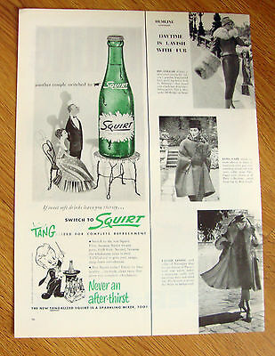 1956  Squirt Soda Ad   Another Couple Switch