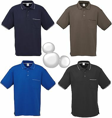 Mens Polo Shirt With Pocket Size S M L XL 2XL 3XL 5XL Short Sleeve Top New!
