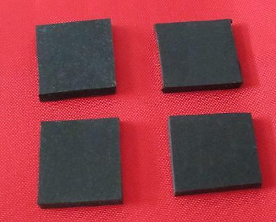 4 x Sorbothane Pads / Feet 40 mm. x  40 mm. x 3 mm. Enhanced Sound & Isolation