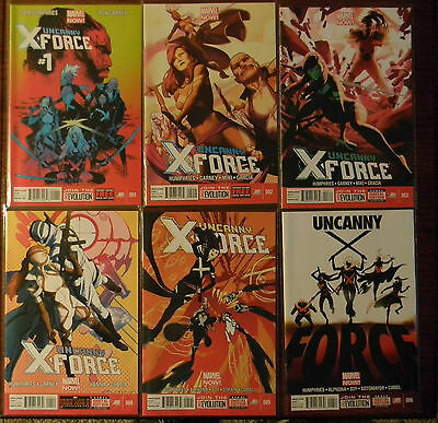 Marvel Comics NOW! Uncanny X-Force 1 2 3 4 5 6 NM FREE SHIPPING