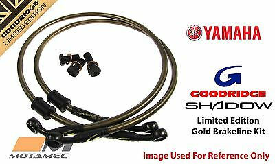 Goodridge GOLD Yamaha XV750 92-97 Front SS Braided Brake Lines Hoses