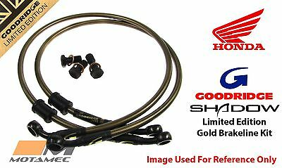 Goodridge GOLD For Honda Pacific Coast Pc800 89-98 Front SS Braided Brake Lines