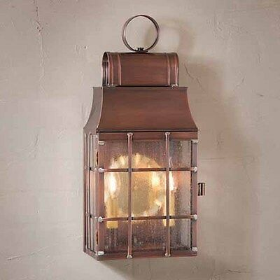 Exterior Wall Lantern in Solid Antique Copper   Washington Copper Outdoor Light