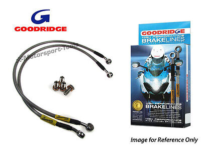 Goodridge For BMW R100Gs Flexible Front 91-96 Front Braided Brake Line Hose Stai
