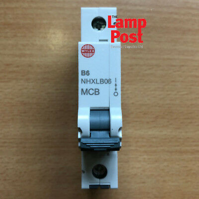 Wylex MCB NHXLB SP MCB Circuit Breaker - Choose From 6A 16A 20A 32A 40A 50 AMP