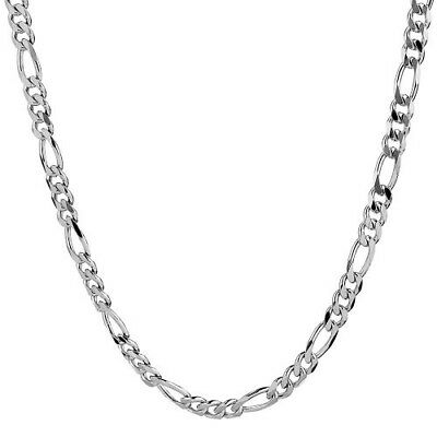 1mm solid silver 925 diamond cut figaro curb link chain necklace bracelet anklet