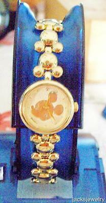 Disney New Lorus Ladies Gold Icon Mickey Mouse Watch! Hard To Find!