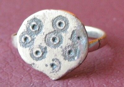 Metal Detector Find> Authentic Ancient FINGER RING Sz: 7 US 17.25mm 0931 DR