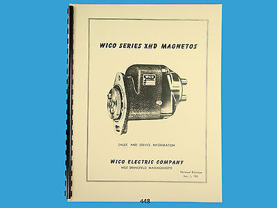 WICO SERVICE Parts Manual For XHD Magneto For Case Oliver Wisconsin 448