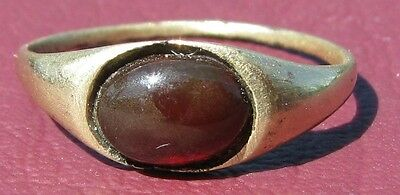 Metal Detector Find   Authentic Ancient FINGER RING Sz:  2 US  12mm 0900 DR
